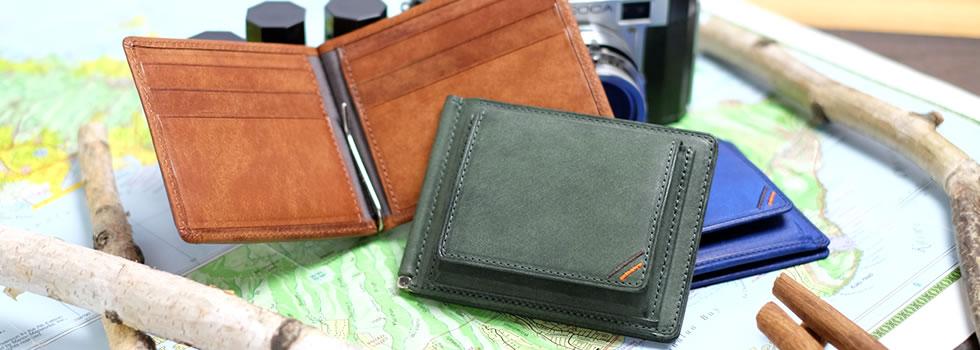 革職人 Dualline(デュアルライン)ボックス小銭入れ付き二つ折り財布