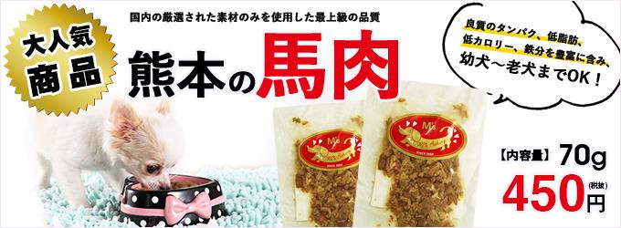 熊本の馬肉 450円